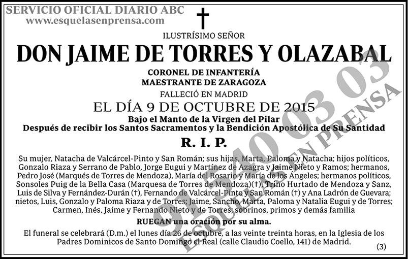 Jaime de Torres y Olazabal
